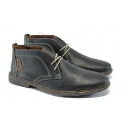 Мъжки обувки от естествена кожа Rieker 33434-14 т.син