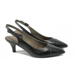 Елегантни дамски обувки на ток Tamaris 1-29602-24 черен