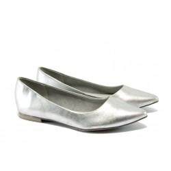 Равни дамски обувки Marco Tozzi 2-22112-34 сребро