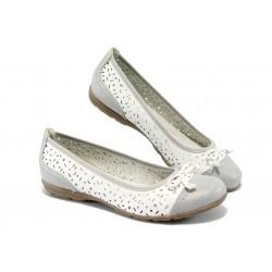 Дамски обувки /тип балеринка/ Jana 8-22168-24 бял