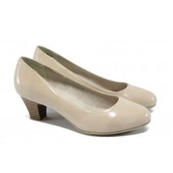 Класически дамски обувки за Н крак Jana 8-22463-24 бежов лак