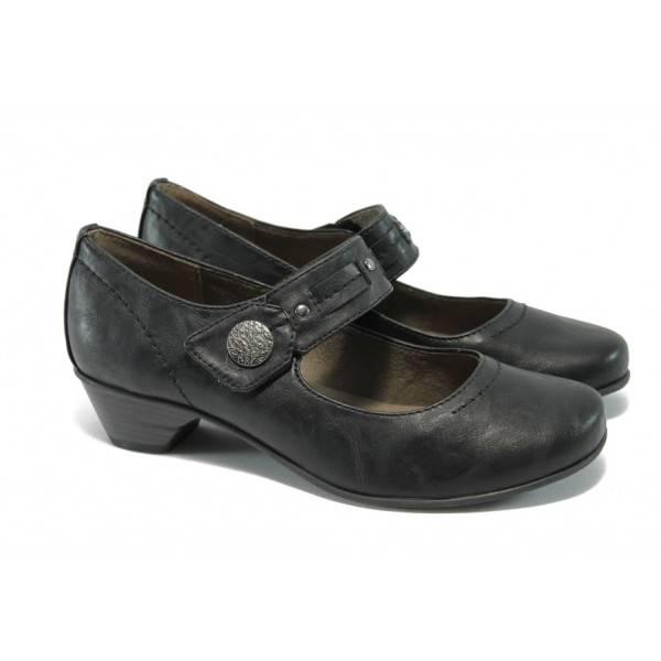 Класически дамски обувки за Н крак Jana 8-24361-24 черен