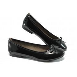 Равни дамски обувки Jana 8-22163-24 черен лак