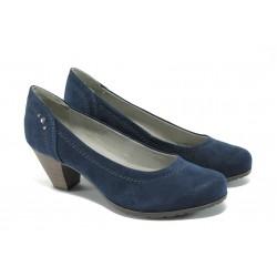 Дамски обувки на ток Jana 8-22465-24 т.син