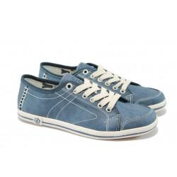 Дамски спортни обувки с мемори пяна S.Oliver 5-23600-34 син