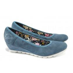 Дамски обувки на платформа с мемори пяна S.Oliver 5-22303-24 син