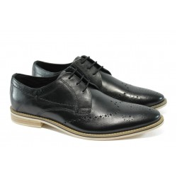 Мъжки спортно-елегантни обувки S.Oliver 5-13202-24 черен