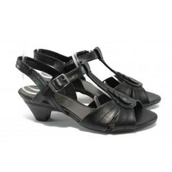 Дамски сандали на среден ток Jana 8-28360-24 черен