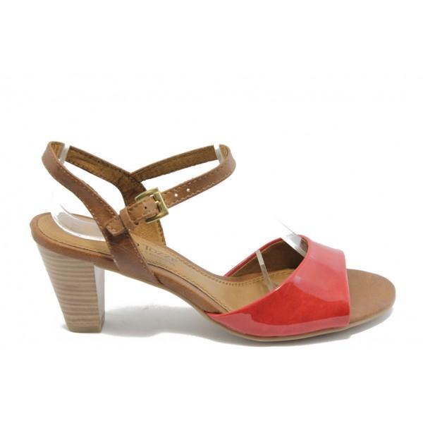 Дамски сандали на ток Marco Tozzi 28324 червена