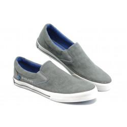 Мъжки спортни обувки без връзки S. Oliver 14600 сиво