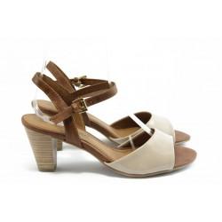 Дамски сандали на ток Marco Tozzi 2-28324-24 бежова