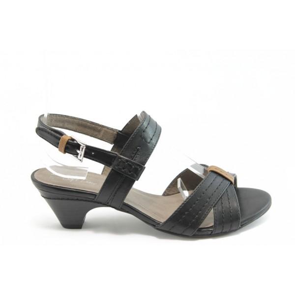 Дамски сандали на нисък ток Jana 28367 черно