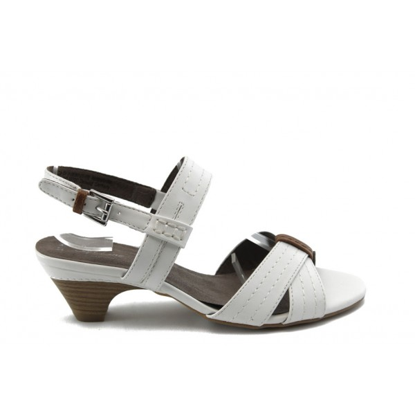 Дамски сандали на нисък ток Jana 28367 бяло