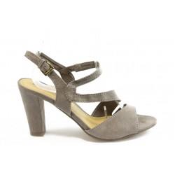 Дамски сандали на висок ток Marco Tozzi 28316 бежово