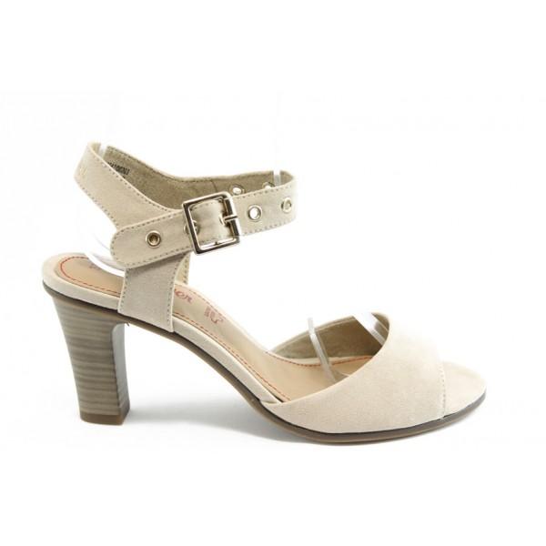 Дамски сандали на висок ток S.Oliver 28303 бежова