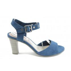 Дамски сандали на висок ток S.Oliver 28303 синьо