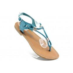 Дамски сандали равни Marco Tozzi 28133 синьо