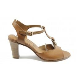 Дамски сандали на ток SIR OLIVER 28300кафе