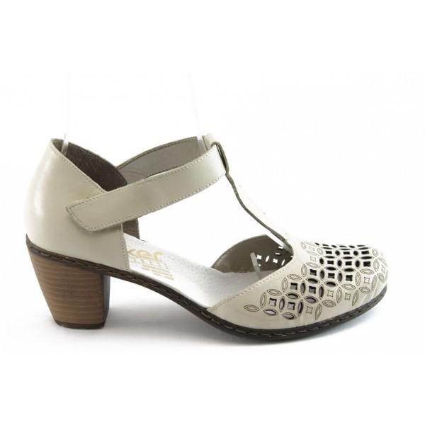Дамски обувки с перфорация Rieker 40998-80 бежово