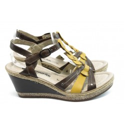 Дамски сандали на платформа Remonte D4554-15 кафяво