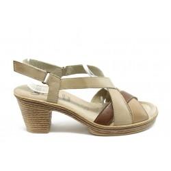 Дамски сандали на нисък ток Caprice 28754 бежово