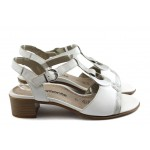 Дамски сандали на нисък ток Remonte R4954-80 бяла
