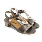 Дамски сандали на нисък ток Remonte R4954-25 кафе