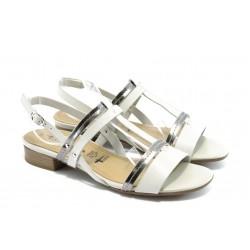 Дамски сандали на нисък ток Tamaris 28179 бяла