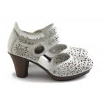 Дамски обувки с перфорация Rieker 47356-80 бяла