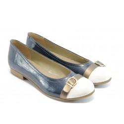 Дамски лачени пантофки Remonte R4803-15 синя