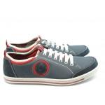 Мъжки спортни обувки с връзки Rieker 19073-16 синьо