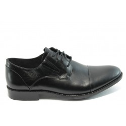 Елегантни мъжки обувки с връзки Rieker В0010-00 черно