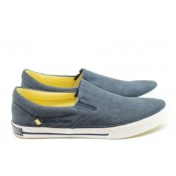 Мъжки спортни обувки без връзки S. Oliver 14600 синьо