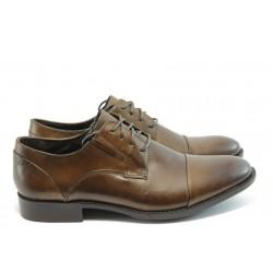 Елегантни мъжки обувки с връзки Rieker В0010-00 кафяво