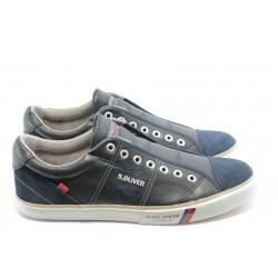 Мъжки спортни обувки без връзки S. Oliver 14610сини