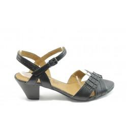 Дамски сандали на нисък ток Caprice 28202 черна ANTISHOKK