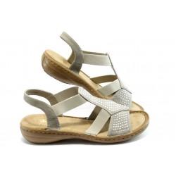 Дамски сандали с ластик Rieker 608Y2-60 сиви