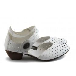 Дамски обувки с перфорация Rieker 43758-80 бяла