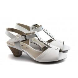 Дамски сандали на нисък ток Jana 28301 бели ANTISHOKK