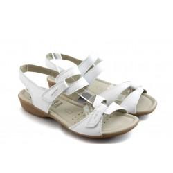 Дамски сандали от естествена кожа Caprice 28664 бели