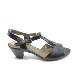 Дамски сандали на нисък ток Jana 28301 черни ANTISHOKK