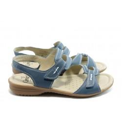 Дамски сандали от естествена кожа Caprice 28664 сини