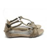 Дамски анатомични сандали Jana 28105 бежови
