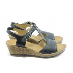 Дамски сандали на ток Rieker 60468-13 сини