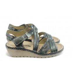 Дамски сандали на платформа Remonte R3751-01  сиви