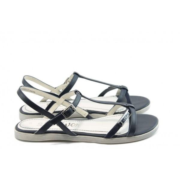 Дамски равни сандали S. Oliver 28108 сини