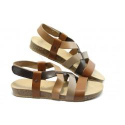 Равни дамски сандали от естествена кожа Jana 28121-32
