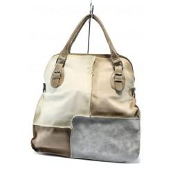 Дамска чанта от естествена кожа ИО 12 бяла