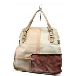 Дамска чанта от естествена кожа ИО 12 червен