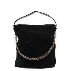Дамска чанта СБ 1070 черен велур